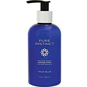 Pure Instinct pheromone infused massage lotion  true blue